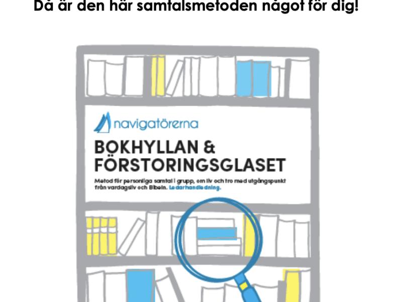 Folder om Bokhyllan & Förstoringsglaset